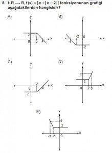 12. Sınıf Matematik kazanım Test 2 soru5