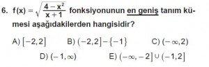 12. Sınıf Matematik kazanım Test 2 soru6