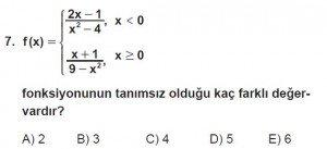 12. Sınıf Matematik kazanım Test 2 soru7