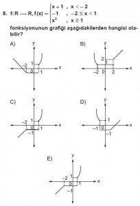 12. Sınıf Matematik kazanım Test 2 soru8