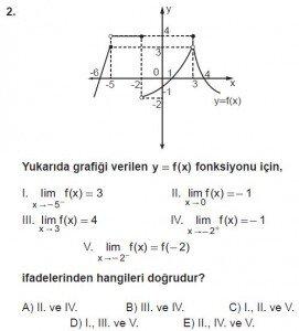 12. Sınıf Matematik kazanım Test 3 soru2