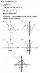 12. Sınıf Matematik kazanım Test 3 soru5