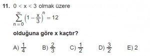12. Sınıf Matematik kazanım Test 4 soru11