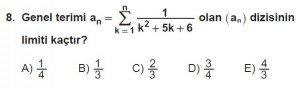 12. Sınıf Matematik kazanım Test 4 soru8