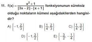12. Sınıf Matematik kazanım Test 5 soru11