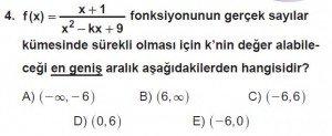 12. Sınıf Matematik kazanım Test 5 soru4