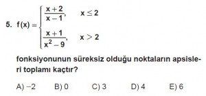 12. Sınıf Matematik kazanım Test 5 soru5