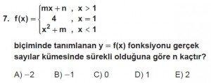 12. Sınıf Matematik kazanım Test 5 soru7