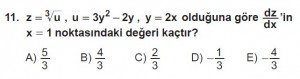 12. Sınıf Matematik kazanım Test 6 soru11