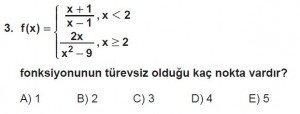 12. Sınıf Matematik kazanım Test 6 soru3