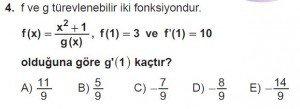 12. Sınıf Matematik kazanım Test 6 soru4