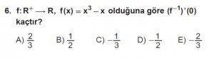 12. Sınıf Matematik kazanım Test 6 soru6