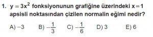 12. Sınıf Matematik kazanım Test 8 soru1
