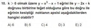 12. Sınıf Matematik kazanım Test 8 soru10