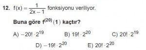 12. Sınıf Matematik kazanım Test 8 soru12