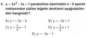 12. Sınıf Matematik kazanım Test 8 soru2