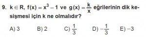 12. Sınıf Matematik kazanım Test 8 soru9