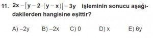 12. Sınıflar Matematik kazanım Test 1 soru11