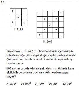 12. Sınıflar Matematik kazanım Test 1 soru12