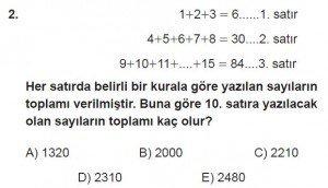 12. Sınıflar Matematik kazanım Test 1 soru2