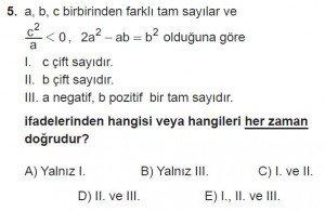 12. Sınıflar Matematik kazanım Test 1 soru5
