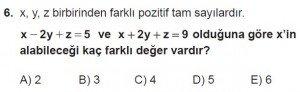 12. Sınıflar Matematik kazanım Test 1 soru6