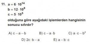 12. Sınıflar Matematik kazanım Test 10 soru11