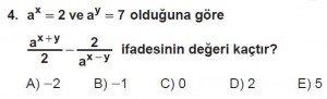 12. Sınıflar Matematik kazanım Test 10 soru4