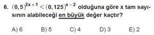 12. Sınıflar Matematik kazanım Test 10 soru6