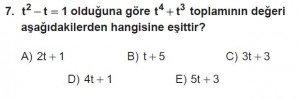 12. Sınıflar Matematik kazanım Test 10 soru7