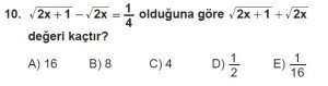 12. Sınıflar Matematik kazanım Test 12 soru10