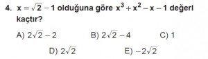 12. Sınıflar Matematik kazanım Test 12 soru4