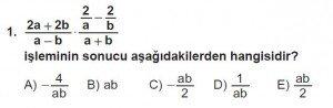 12. Sınıflar Matematik kazanım Test 13 soru1