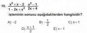 12. Sınıflar Matematik kazanım Test 13 soru10