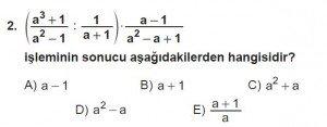 12. Sınıflar Matematik kazanım Test 13 soru2