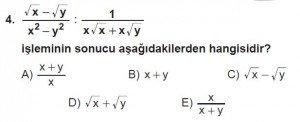 12. Sınıflar Matematik kazanım Test 13 soru4