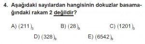 12. Sınıflar Matematik kazanım Test 2 soru4