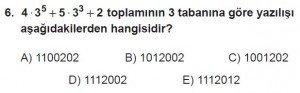 12. Sınıflar Matematik kazanım Test 2 soru6