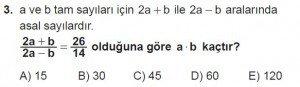 12. Sınıflar Matematik kazanım Test 4 soru3