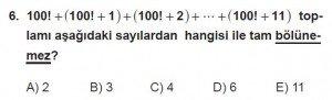 12. Sınıflar Matematik kazanım Test 4 soru6