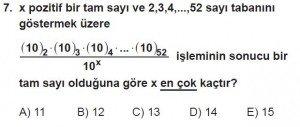 12. Sınıflar Matematik kazanım Test 4 soru7