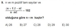 12. Sınıflar Matematik kazanım Test 4 soru9