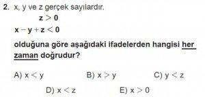 12. Sınıflar Matematik kazanım Test 8 soru2
