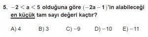 12. Sınıflar Matematik kazanım Test 8 soru5