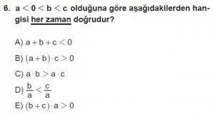12. Sınıflar Matematik kazanım Test 8 soru6