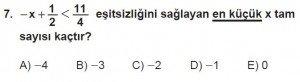 12. Sınıflar Matematik kazanım Test 8 soru7