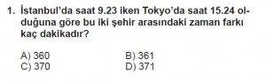 5. Sınıf Matematik kazanım Test 4 soru1