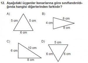 5. Sınıf Matematik kazanım Test 8 soru 12