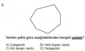 5. Sınıf Matematik kazanım Test 8 soru 2