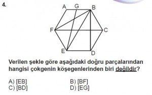 5. Sınıf Matematik kazanım Test 8 soru 4